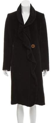 Max Mara Alpaca & Wool-Blend Longline Coat