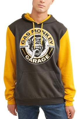 Pop Culture Gas Monkey Men's Licensce Color Block Long Sleeve Graphic Hoody