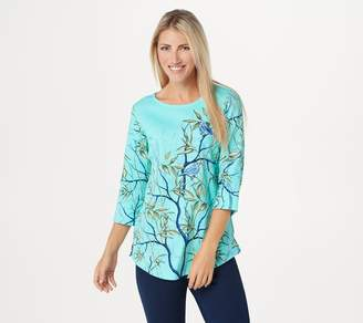 Factory Quacker Printed Tunic with Embroidered Bird Detail