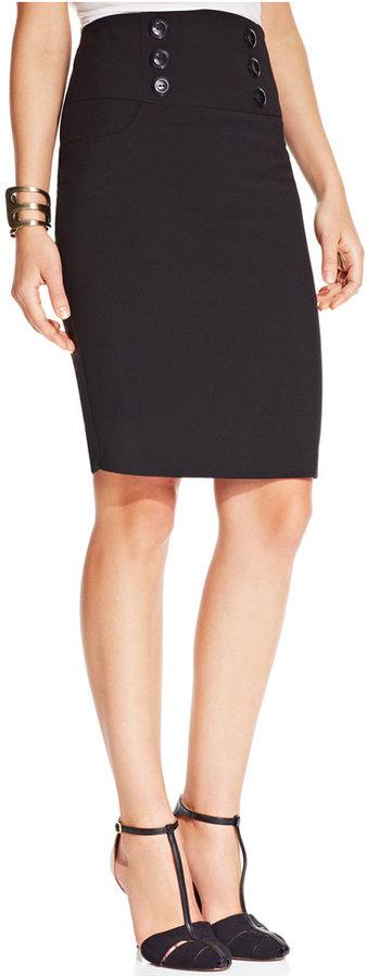 Amy Byer Juniors High-Waist Pencil Skirt