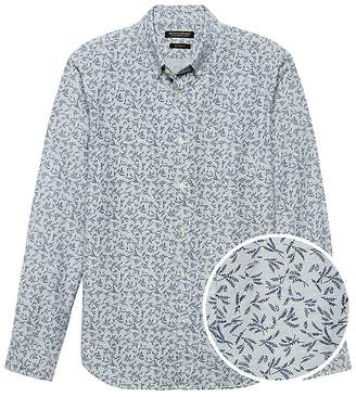 Banana Republic Grant Slim-Fit Cotton Oxford Floral Shirt