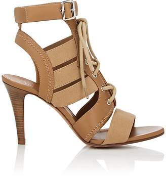 Chloé Women's Buckle-Strap Canvas & Leather Sandals