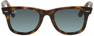 Ray-Ban Tortoiseshell and Blue Wayfarer Ease Sunglasses