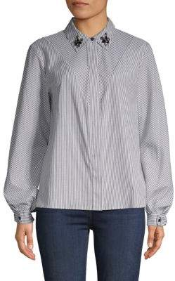 Laundry by Shelli Segal Candy Stripe Button-Down Shirt