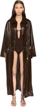 Alberta Ferretti Nylon Long Coat
