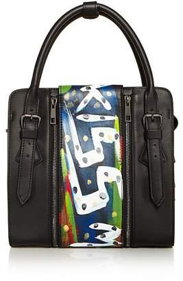 Love x Fashion x Art Kiss Small Leather Satchel