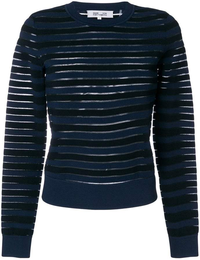 sheer striped jumper