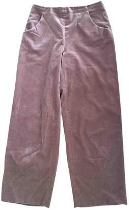 Vanessa Seward Pink Velvet Trousers for Women