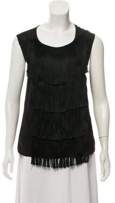 Dries Van Noten Fringe-Trimmed Sleeveless Top