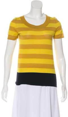 Akris Punto Striped Short Sleeve T-Shirt