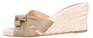 Christian Louboutin Grosgrain Slide Sandals