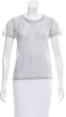 The Lady & The Sailor Striped Mesh Top w/ Tags