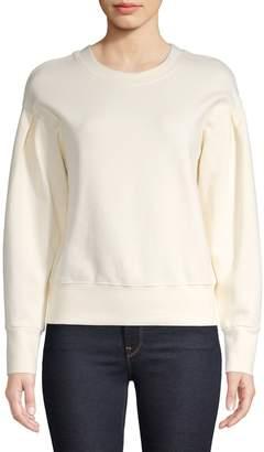 Madewell Pleated Dropped-Shoulder Sweatshirt