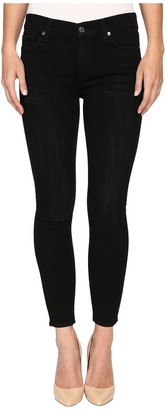 7 For All Mankind The Ankle Skinny in Black Sands Broken Twill $189 thestylecure.com