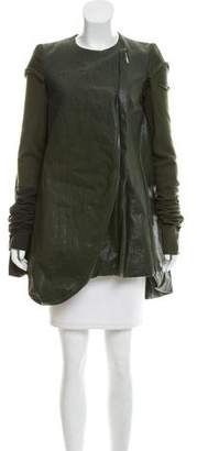 Rick Owens Winter Heron Asymmetrical Coat w/ Tags