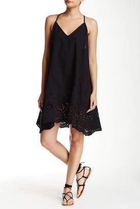 Love Stitch Embroidered Eyelet Border Mini Dress