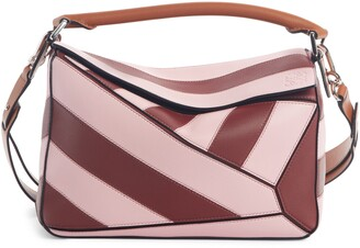 Loewe Small Puzzle Rugby Srtripe Leather Bag