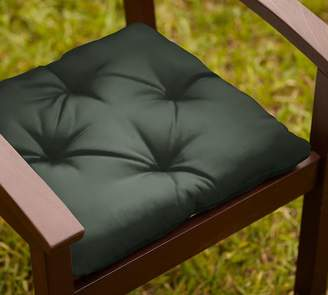 Pottery Barn Tufted Sunbrella®; Outdoor Dining Chair Cushion - Solid