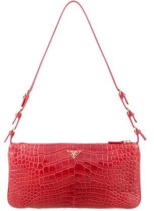 pradaPrada Alligator Shoulder Bag