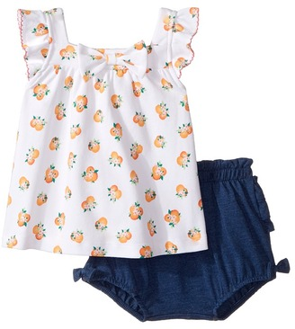 Kate Spade New York Kids - Orangerie Two-Piece Set Girl's Pajama Sets $58 thestylecure.com