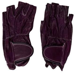 Sermoneta Gloves Leather Fingerless Gloves