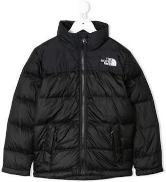 The North Face Kids horizontal paneled padded jacket