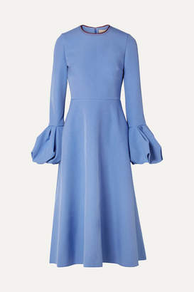 Roksanda Aylin Crepe Midi Dress - Blue