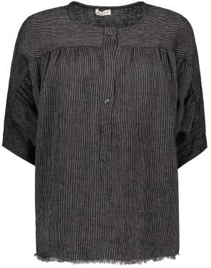 Masscob Sale - Striped Linen Blouse