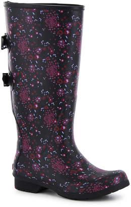 Chooka FASHION Fashion Womens Versa Zuri Rain Boots Waterproof Pull-on Wide Width