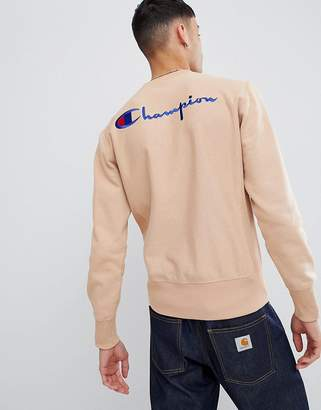 Champion sweatshirt with back logo in brown