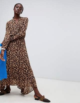 Essentiel Antwerp Rus leopard midi dress