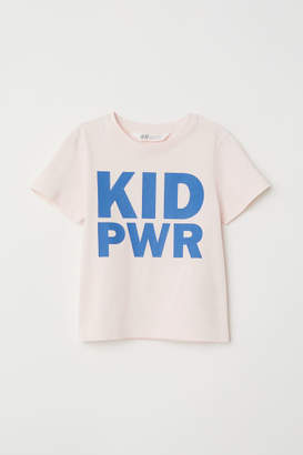 H&M T-shirt with Printed Design - Pink