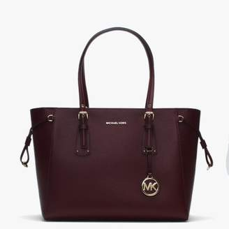 Michael Kors Voyager Oxblood Saffiano Leather Tote Bag