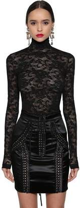 Dolce & Gabbana Stretch Sheer Lace Top