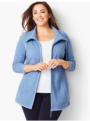 Talbots Cotton Pique Jacket - Heathered