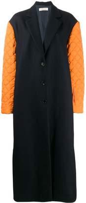 Nina Ricci contrasting sleeve coat