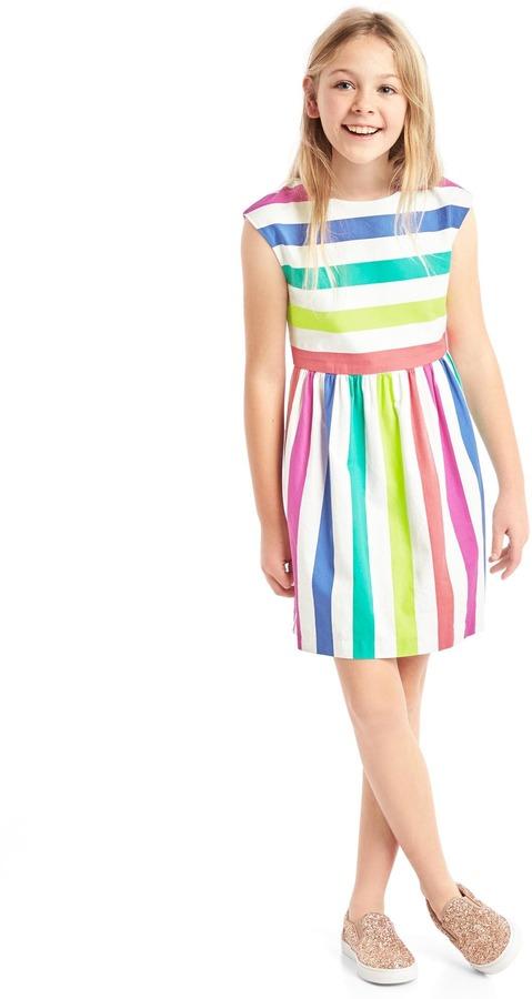 Bold stripe cap dress 5