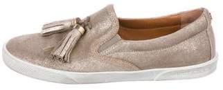 Jimmy Choo Metallic Slip-On Sneakers