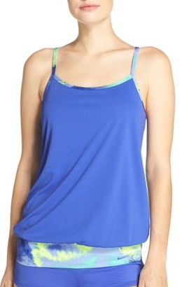 Women's Nike Cascade Sport Racerback Tankini Top $78 thestylecure.com