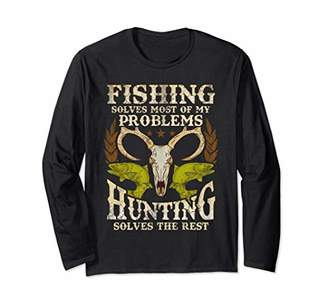 Hunter Fishing Hunting Long Sleeve T-Shirt Fathers Day Gift