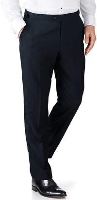 Charles Tyrwhitt Midnight Blue Slim Fit Tuxedo Wool Pants Size W32 L38