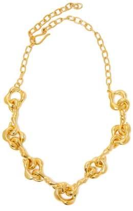 Sophia Kokosalaki Agrifi Hooks Ii Gold Plated Silver Necklace - Womens - Gold