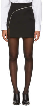 Alexander Wang Black Zipper Miniskirt