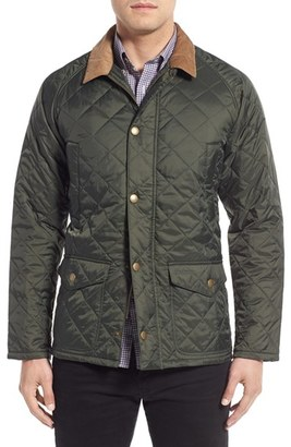Men's Barbour 'Canterdale' Slim Fit Water-Resistant Diamond Quilted Jacket $229 thestylecure.com