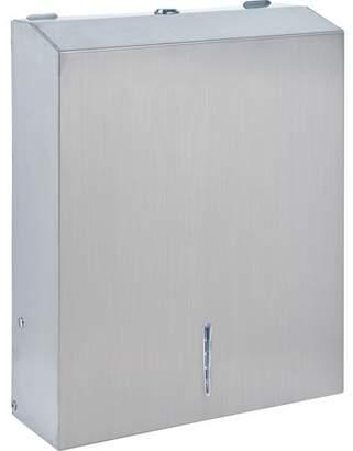 Genuine Joe, GJO02198, C-Fold/Multi-fold Towel Dispenser Cabinet, 1 Each, Silver