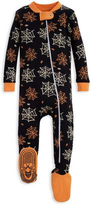 Burt's Bees Itsy Bitsy Spider Organic Baby Zip Up Footed Halloween Pajamas