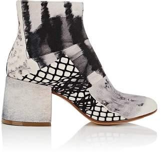 MM6 MAISON MARGIELA Women's Block-Heel Twill Ankle Boots