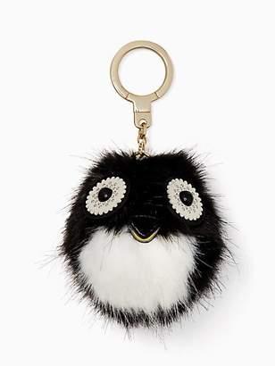 Kate Spade Penguin Pouf Keychain