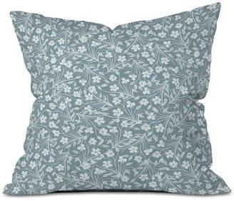 Deny Designs Jenean Morrison Pale Flower Blue Throw Pillow