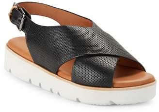 Gentle Souls Women's Kiki Embossed Leather Platform Sandals